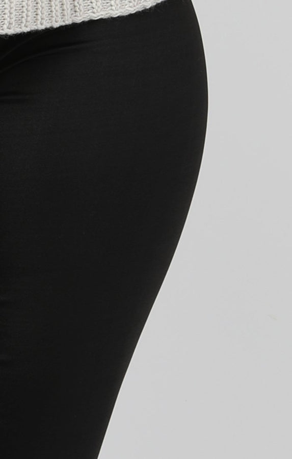Black Faux Leather Look Leggings - Catriona
