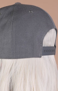 Charcoal Basic Baseball Cap - Lexi