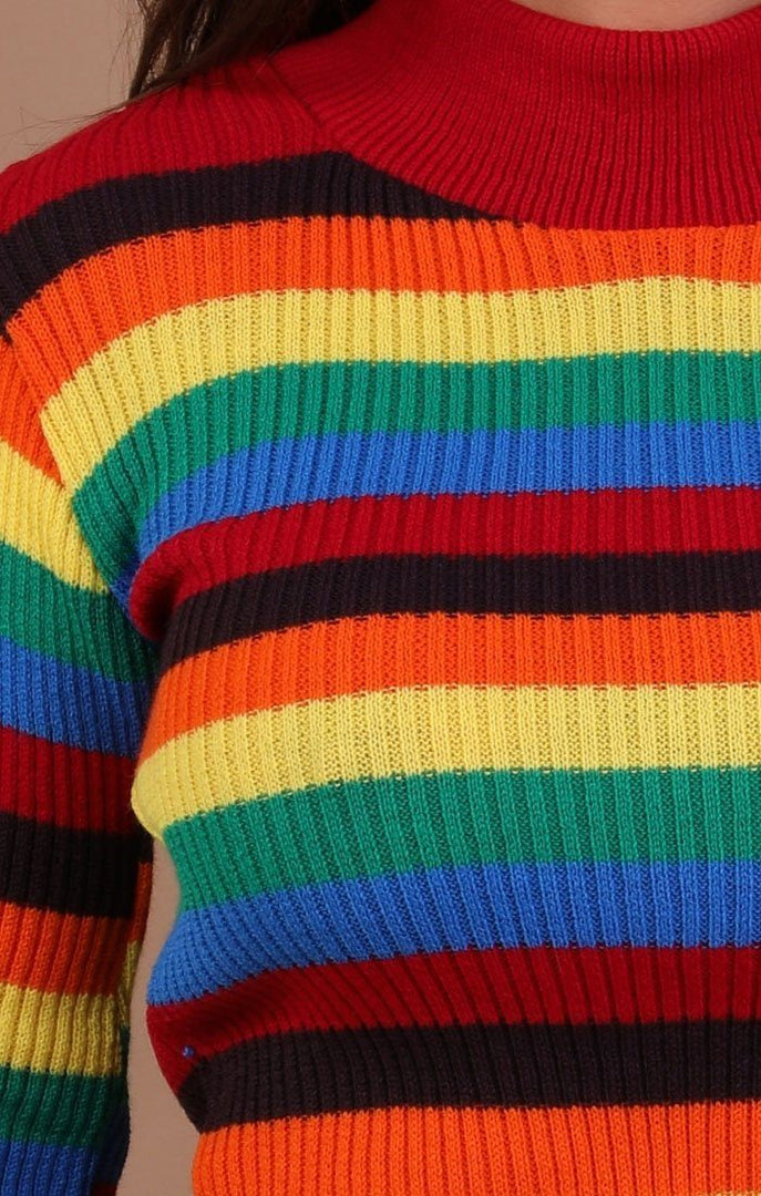 High Neck Rainbow Jumper - Mackenzie