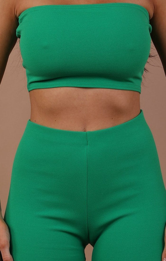 Green Bandeau Two Piece Co-ord Set - Hadley