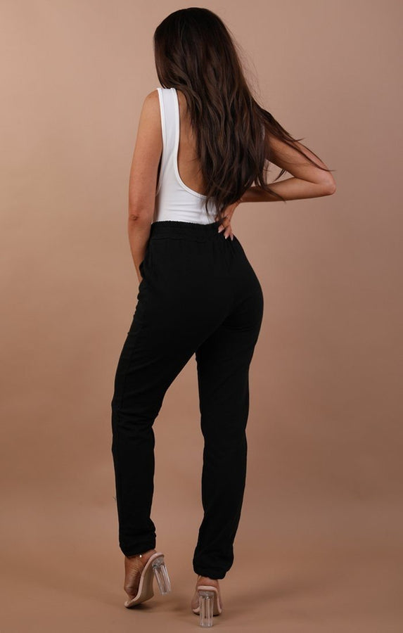 Black Basic Sweatpants - Harlow