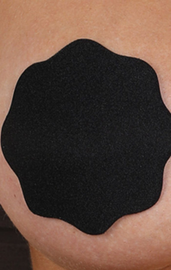 Black Fabric Adhesive Nipple Cover