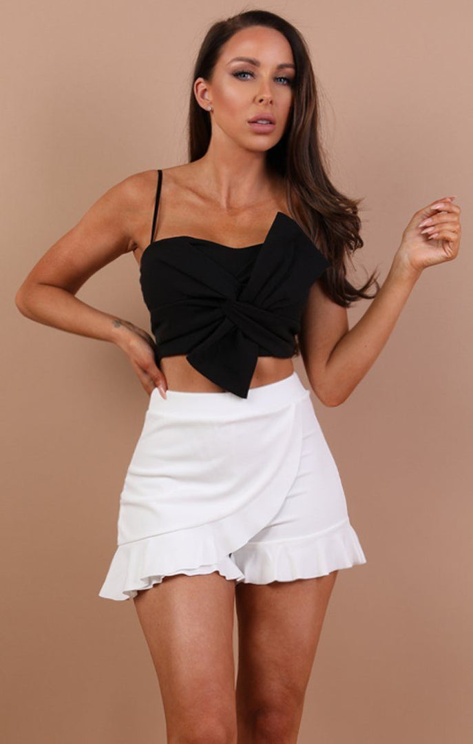 Black Knot Front Crop Top - Katerina