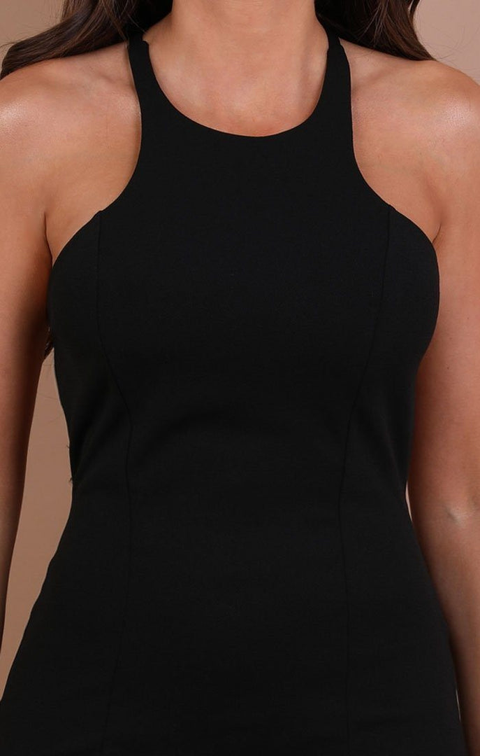 Black Bow Back Bodycon Mini Dress - Alisha