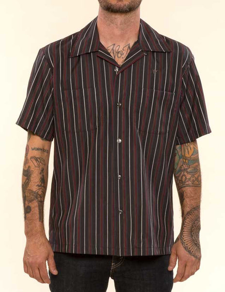 Mr. California - Men's Short Sleeve Button-Up Shirt - The Pomona - Front View