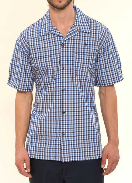 Mr. California - Men's Short Sleeve Plaid Shirt - The Modesto - Front View