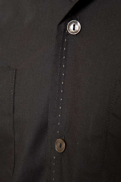 Mr. California - Short Sleeve Button-Up Shirt -The Coronado - Button and Stitch Detail