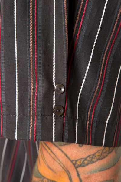 Mr. California - Men's Short Sleeve Button-Up Shirt - The Pomona - Button Detail