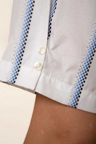 Mr. California - Men's Short Sleeve Button Up Shirt - The Stockton - Button Detail