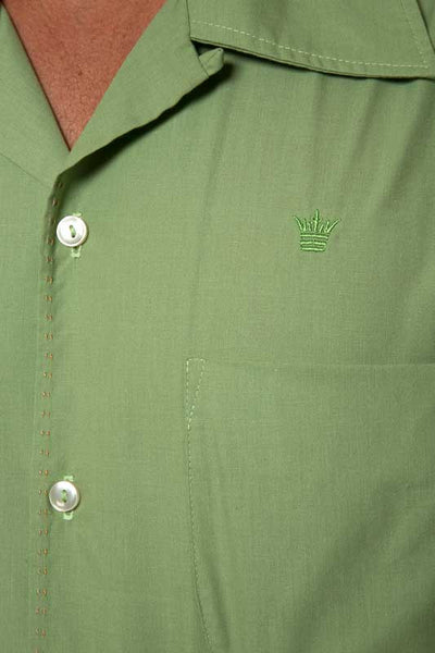 Mr. California - Men's Short Sleeve Button-up Shirt - The San Bernardino - Embroidery Detail