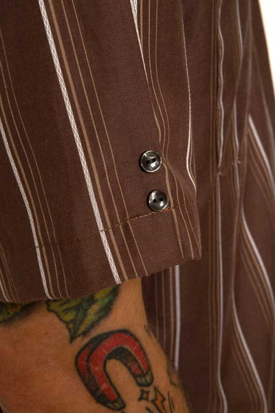 Mr. California - Men's Short Sleeve Shirt - The Long Beach - Button Detail