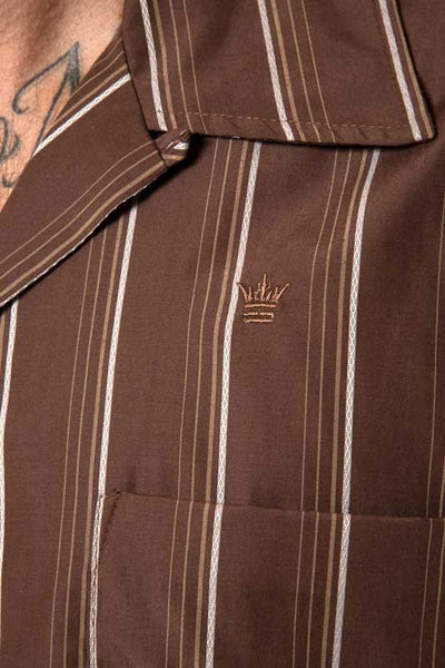 Mr. California - Men's Short Sleeve Shirt - The Long Beach - Embroidery Detail