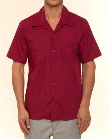 Mr. California - Men's Short Sleeve Button-up Shirt - The San Bernardino - Front View