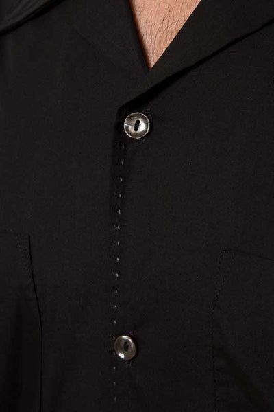 Mr. California - Men's Short Sleeve Button-up Shirt - The San Bernardino - Button and Stitch Detail