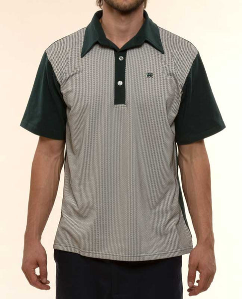 Mr. California - Men's Short Sleeve Contrast Panel Knit Shirt - The Pasadena - Front View