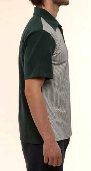 Mr. California - Men's Short Sleeve Contrast Panel Knit Shirt - The Pasadena - Right Side View
