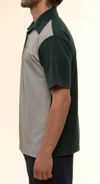 Mr. California - Men's Short Sleeve Contrast Panel Knit Shirt - The Pasadena - Left Side View