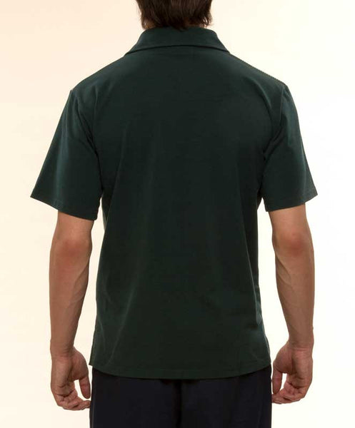 Mr. California - Men's Short Sleeve Contrast Panel Knit Shirt - The Pasadena - Back View