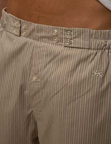 Mr. California - Men's Pajamas - The La Quinta - Pajama Bottom - Front Button Detail