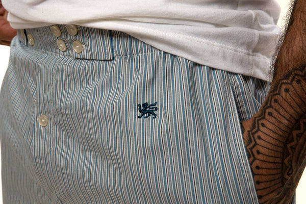 Mr. California - Men's Pajamas - The La Jolla - Pajama Bottom Detail - Embroidery Detail