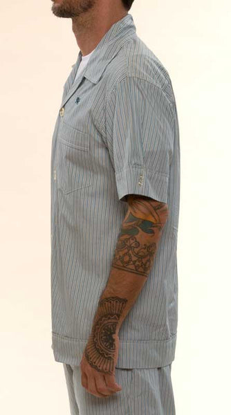 Mr. California - Men's Pajamas - The La Jolla - Pajama Top Detail - Right Side