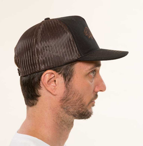 Mr. California - Men's Trucker Hat - The Billed Duck - Right Side View
