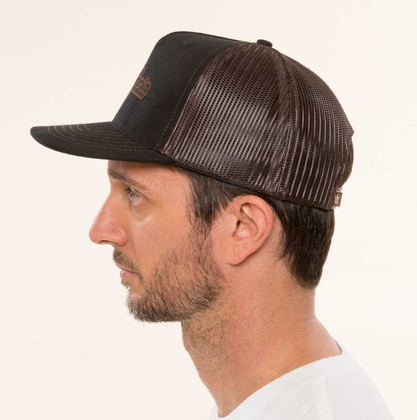 Mr. California - Men's Trucker Hat - The Billed Duck - Left Side View