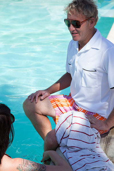 Mr. California - Men's Short Sleeve Coolmax Knit Shirt - The Rancho Mirage - Pool Lifestyle