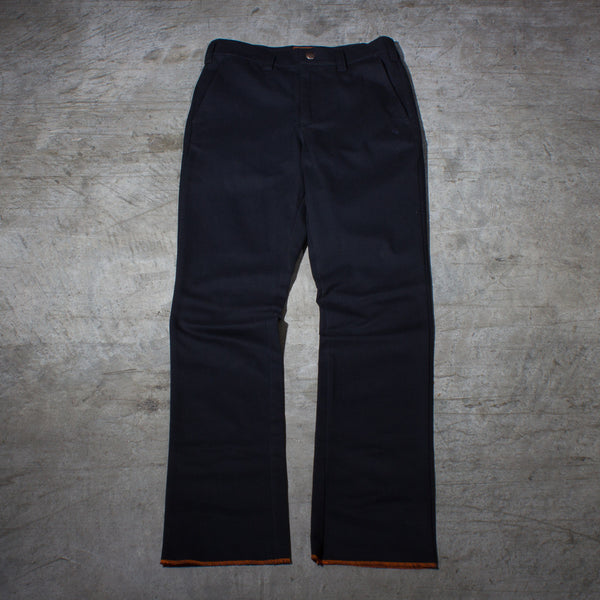 Men's black chino pants — Front — Full Length Picture