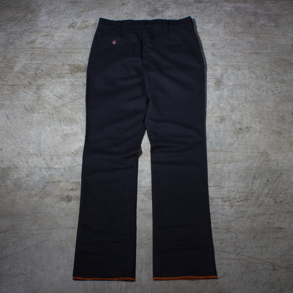 Men's black chino pants — Back — Full Length Picture