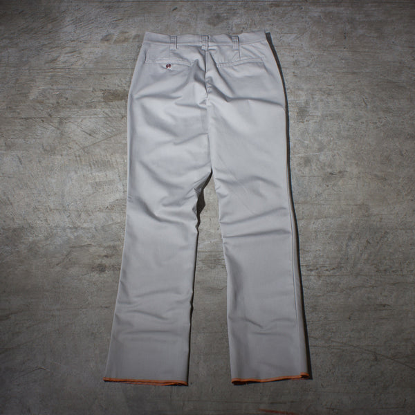 Men's light grey chino pants — Back — Full Length Picture