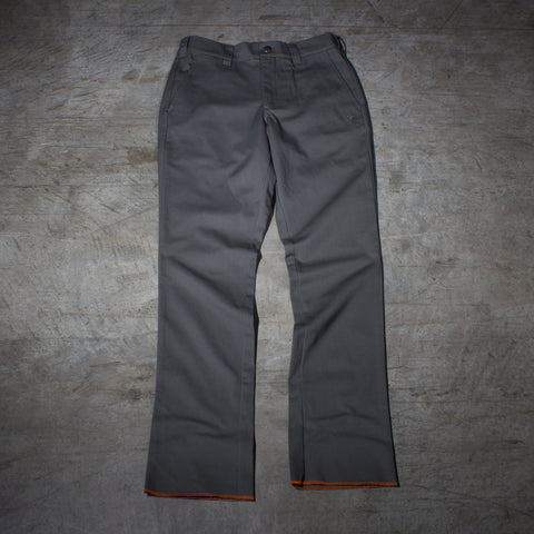 Men's dark grey chino pants — Front — Full Length Picture