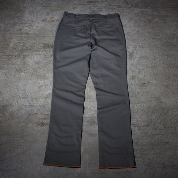 Men's dark grey chino pants — Back — Full Length Picture