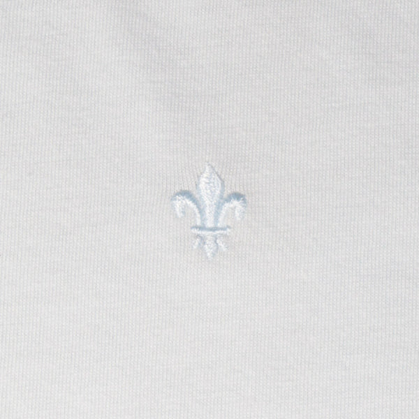 Mr. California Undershirt in Martini White - Embroidery Detail