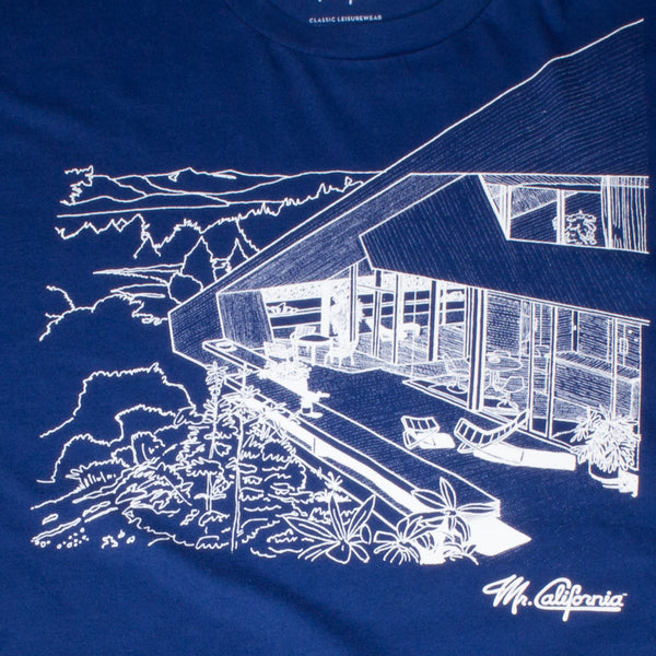 California Mountain House Case Study T-Shrit - Print Detail