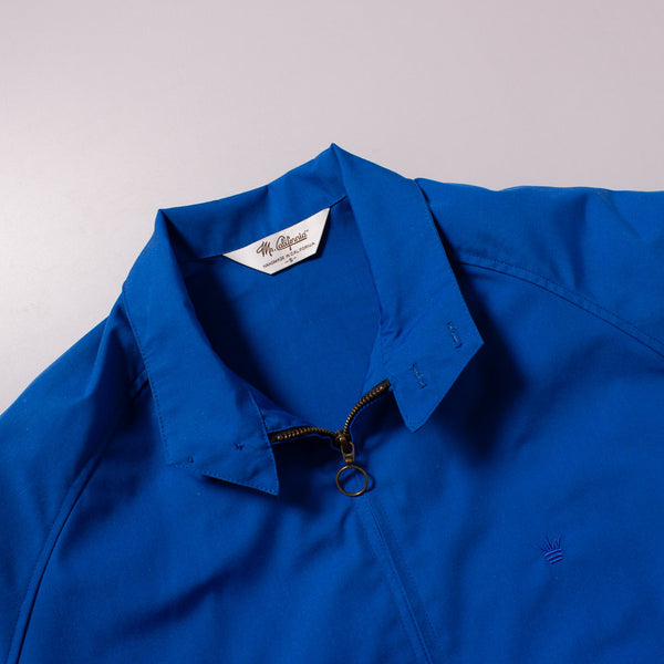 The Laguna Jacket in Canary Blue - Collar Detail