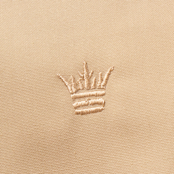 The Laguna Jacket in Sandstorm Tan - Embroidery Detail