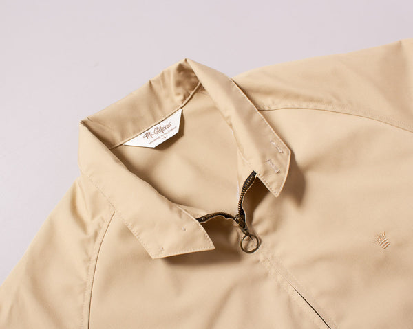 The Laguna Jacket in Sandstorm Tan - Collar Detail