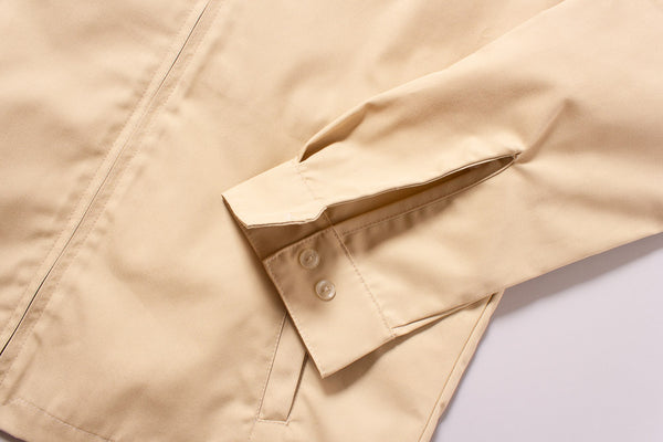 The Laguna Jacket in Sandstorm Tan - Sleeve Cuff Detail