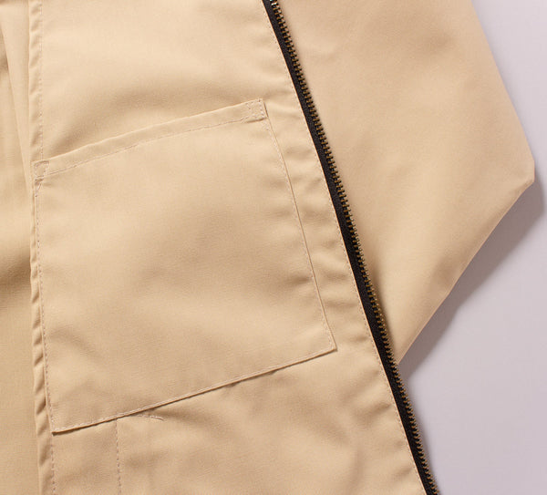 The Laguna Jacket in Sandstorm Tan - Inside Pocket Detail