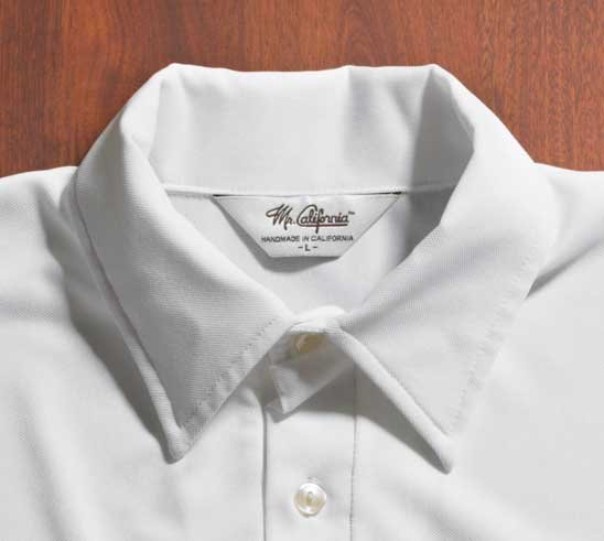 Mr. California - Men's Short Sleeve Coolmax Knit Shirt - The Rancho Mirage - Collar Detail