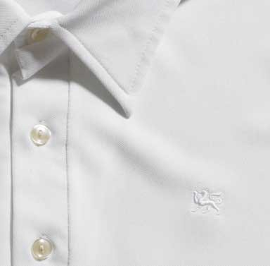 Mr. California - Men's Short Sleeve Coolmax Knit Shirt - The Rancho Mirage - Embroidery Detail