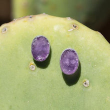 Load image into Gallery viewer, Oval Amethyst Studs