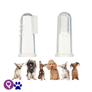 Pet 3pcs Finger Dental Hygiene Brushes for Small to Large Dogs Cats and Dogs