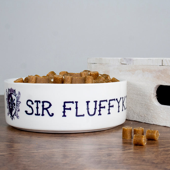 Personalized Sir Cat Bowl