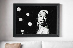 Nina Simone Poster Jazz Art Painting Print Canvas