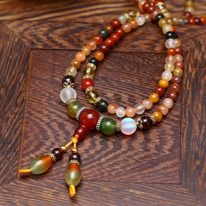 Natural Colorful Crystal Quartz Beads Necklace/ Bracelet for Women / Girls