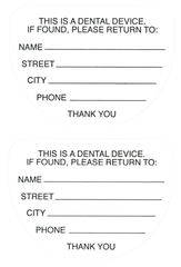 Extra Retainer Case Labels (Sheet of 25)
