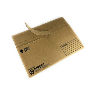 Pack 10 Quality Cardboard Postal Packs Large Letter Royal Mail No Tape Self Seal Easy to Open Tear Strip