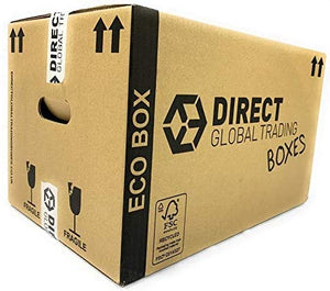 Pack of 15 Eco Friendly FSC Certified Cardboard Moving House Boxes